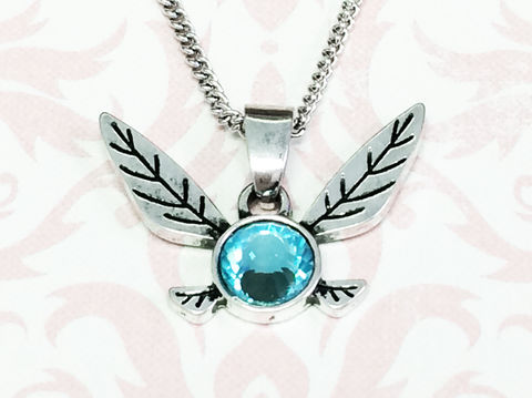 Legend,of,Zelda,Navi,Necklace,legend of zelda, necklace, navi, blue fairy, hey listen, pendant, chain, geeky, gamer girl, gaming, jewelry, zelda