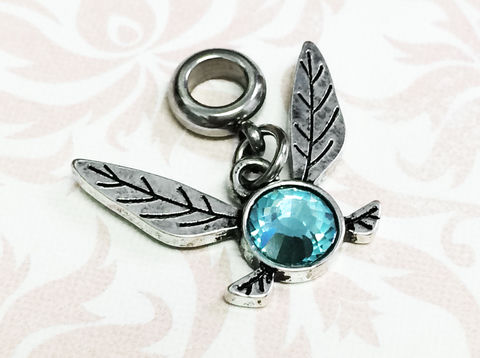 Legend,of,Zelda,Navi,Bracelet,Charm,legend of zelda, navi, charm, bracelet charm, european charm, slider charm, pandora compatible, gamer girl, geek