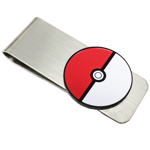 Pokéball,Money,Clip,pokemon, pokeball, stainless steel, money clip, cash clip, billfold, pokemon go, geeky
