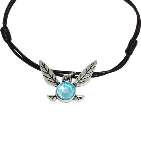 Legend,of,Zelda,Navi,Bracelet,/,Anklet,legend of zelda, navi, blue fairy, bracelet, anklet, adjustable, loz, gamer girl, geek, mens