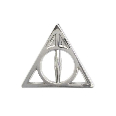 Harry,Potter,Deathly,Hallows,Silver,Pin,harry potter, deathly hallows, small pin, silver, metal, lapel pin, hat pin