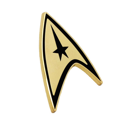 Star,Trek,Command,Insignia,Small,Golden,Pin,star trek, starfleet, insignia, pin, badge, command, delta, gold, golden, trekkie, trekky, star fleet, enamel pin