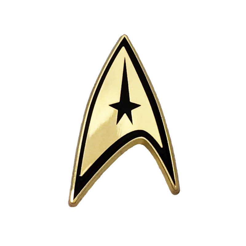 Star Trek Command Insignia Small Golden Pin - product images  of
