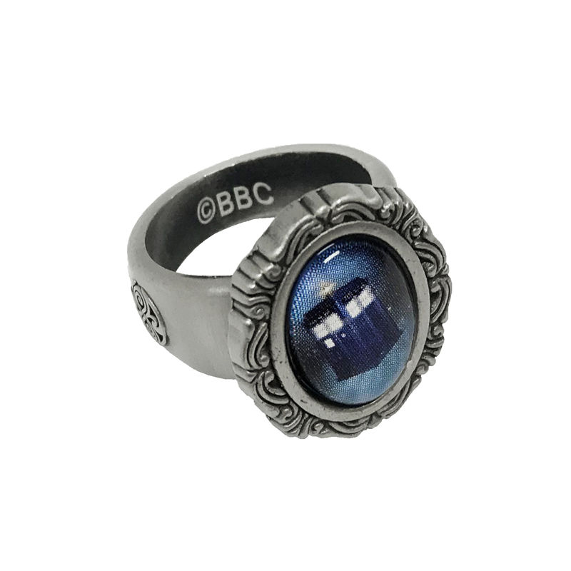 Doctor Who TARDIS Cameo-style Ring - product images  of