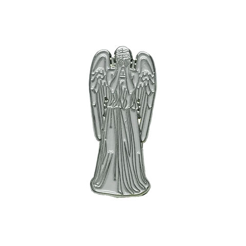 Weeping,Stone,Angel,Enamel,Pin,doctor who, weeping angel, enamel pin, stone angel, statue, don't blink, crying angel, metal pin, hat pin, tie pin, dr who