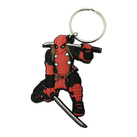 Deadpool,Lightweight,Keychain,deadpool, keychain, key chain, keyring, soft, plastic, rubber, dead pool, red, color, comics