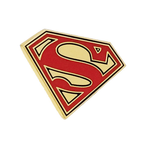 Superman,Enamel,Pin,superman, lapel pin, tie pin, tie tack, enamel, colour, comics, nerd, geeky