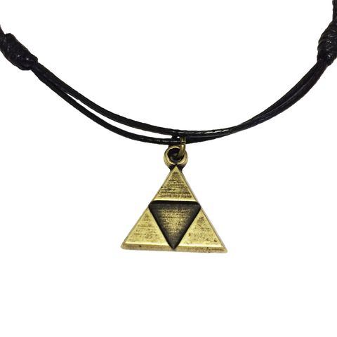 Bronze,Triangle,Bracelet,/,Anklet,legend of zelda, triforce, bronze, triangle, bracelet, anklet, adjustable, loz, gamer girl, geek, mens