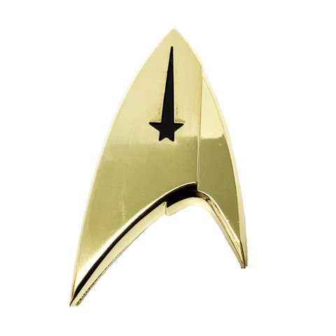 Star,Trek,Discovery,Magnetic,Badge,star trek, discovery, insignia, pin, badge, cosplay, costume, large, screen-accurate, gold, command, new trek
