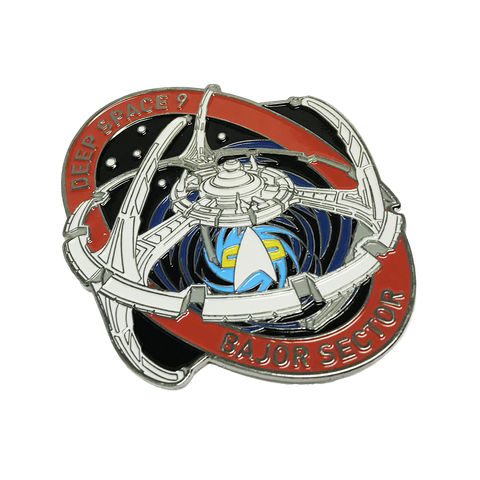 DS9,Large,Enamel,Pin,Badge,star trek, deep space nine, DS9, space station, enamel pin, badge, large, ship, ships of star trek collection, trekky, trekkie