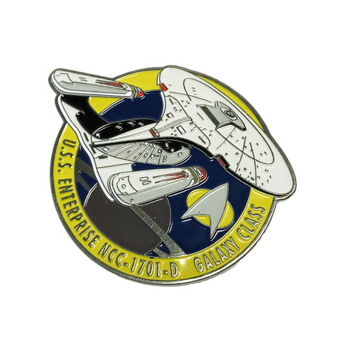 Enterprise,D,Large,Enamel,Pin,Badge,star trek, enterprise D, next generation, ncc1701D, ncc 1701 D, enamel pin, badge, large, ship, ships of star trek collection, trekky, trekkie