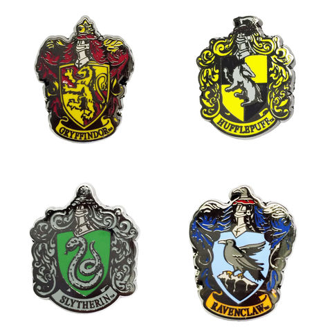 Harry,Potter,Houses,Enamel,Pins,harry potter, enamel pins, houses, gryffindor, slytherin, hufflepuff, ravenclaw, colour, metal pin, lapel pin, hat pin, tie pin