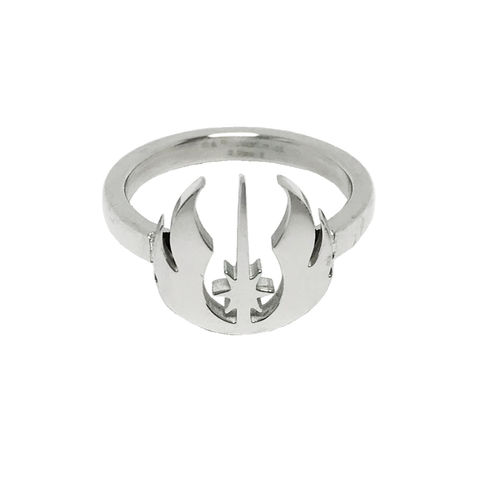 Star,Wars,Jedi,Symbol,Ring,star wars, ring, ladies, womens, jedi, symbol, stainless steel, geeky, silver