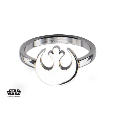 Star,Wars,Rebels,Symbol,Ring,star wars, ring, ladies, womens, rebels, rebel alliance, symbol, stainless steel, geeky, silver