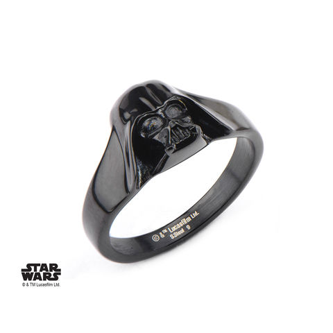 Star,Wars,Black,Darth,Vader,Ring,star wars, darth vader, ring, helmet, black, stainless steel, geeky, ladies, womens