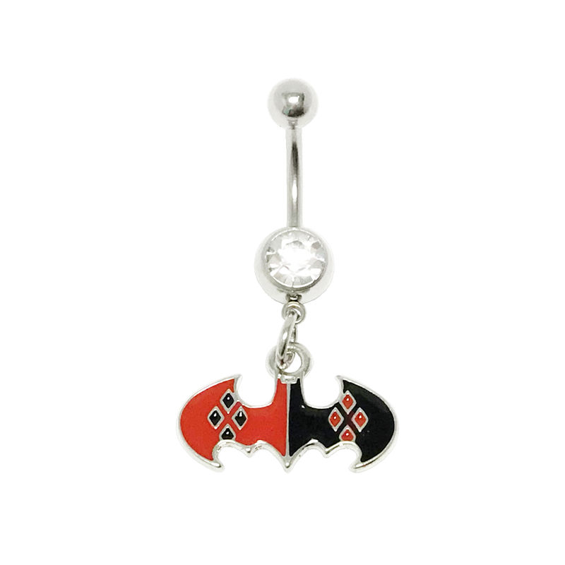 Harley Quinn Bat Symbol Belly Ring - product images  of