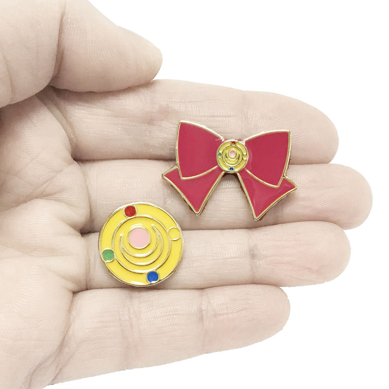 Sailor Moon Bow and Transformation Brooch Pin Set - product images  of