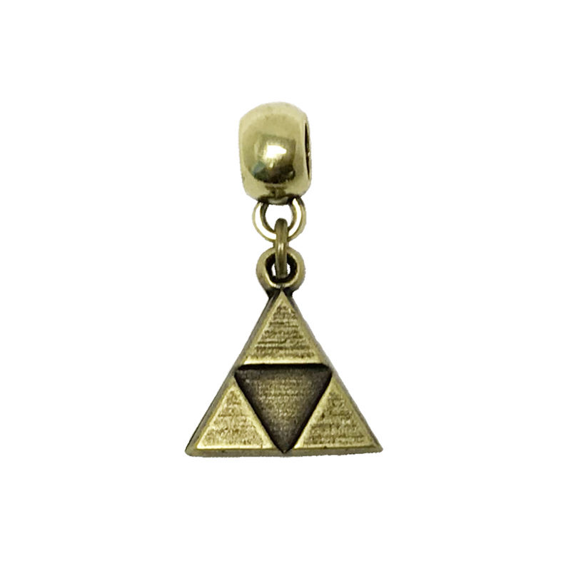 Bronze Triangle Bracelet Charm - product images  of