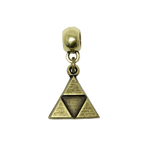 Bronze,Triangle,Bracelet,Charm,triforce, bracelet charm, bronze, triangle, european style, slider, legend of zelda