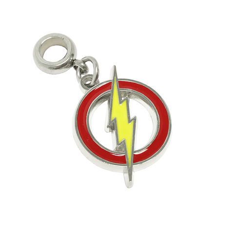 The,Flash,Symbol,Bracelet,Charm,the flash, bracelet charm, european charm, slider charm, stainless steel, red yellow logo, classic, symbol