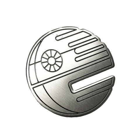 Star,Wars,Stainless,Steel,Death,Pin,star wars, death star, pin, enamel pin, metal pin, deathstar, stainless steel, silver, geeky, badge