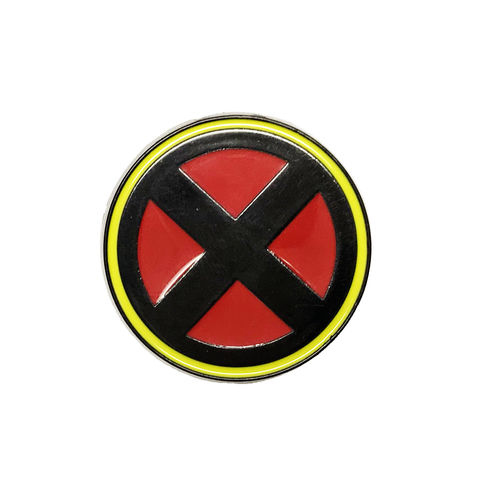 X-Men,Classic,Logo,Enamel,Pin,x-men, enamel pin, classic logo, red and yellow, metal, colour, comics, round