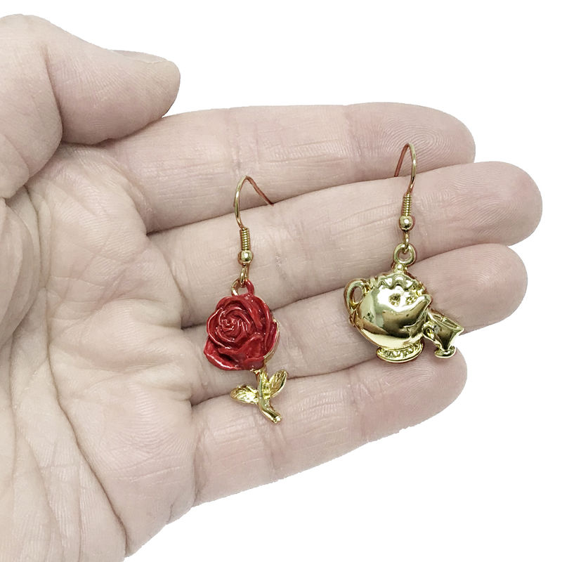 Beauty and the Beast Mrs Potts and Chip / Rose Earrings - product images  of