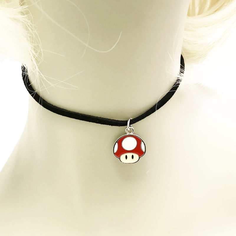 Super Mario Red Mushroom Thin Choker Necklace - product images  of