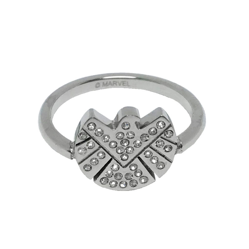 Agents of Shield Stainless Steel Ring with Gems - product image
