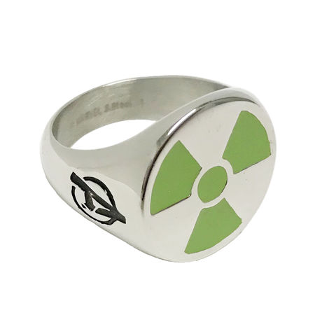 The,Hulk,Stainless,Steel,Ring,avengers, hulk, radioactive, symbol, green, ring, mens ring, stainless steel, signet ring