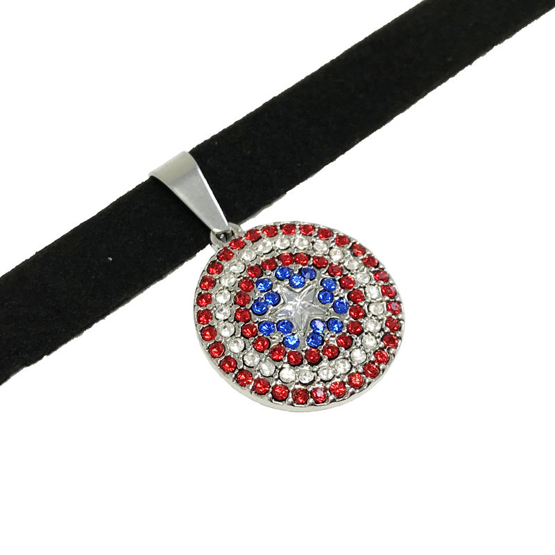 "Captain America ""Bling"" Choker Necklace - product images  of"