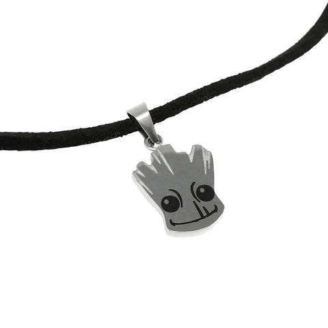 Baby,Groot,Choker,Necklace,baby groot, groot, choker, necklace, stainless steel, guardians of the galaxy, geeky, nerdy