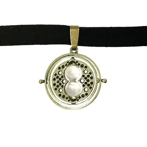 Harry,Potter,Timeturner,Choker,Necklace,harry potter, timeturner, choker, time turner, necklace, gold, black, potterhead, geeky, jewelry