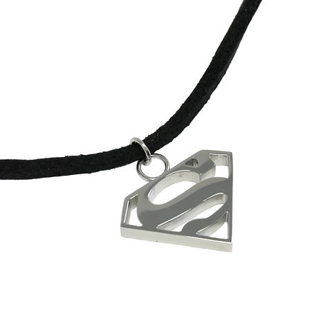 Superman,Stainless,Steel,Choker,Necklace,superman, choker, necklace, stainless steel, surgical steel, man of steel, superman logo, silver, short necklace, kids
