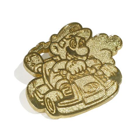 Mario,Kart,Golden,Collector's,Pin,mario kart, golden mario, blind box, series two, nintendo, mariokart, rare, gold