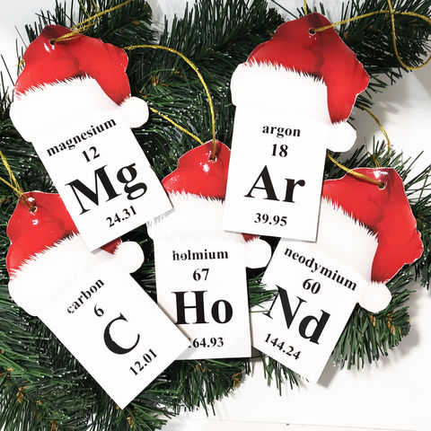 Periodic,Table,Christmas,Ornament,periodic table ornament, chemical elements ornament, element ornament, periodic table of the elements, science, geek, scientist, science student gift, pharmacist gift, teacher gift, professor gift, science teacher, educational, fun, unique, xmas, chemist