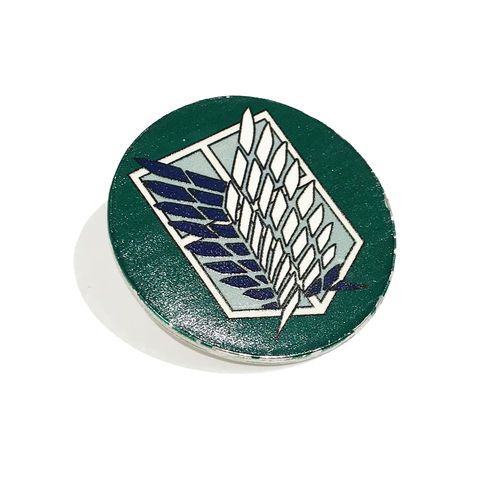 Attack,on,Titan,Green,Enamel,Pin,attack on titan, enamel pin, green, wings of freedom, scouting legion, emblem, badge, metal