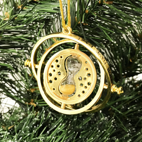 Harry,Potter,Timeturner,Christmas,Ornament,harry potter, timeturner, time turner, christmas ornament, xmas, holiday, decoration, ornament, spinning, moving, sandglass, hourglass, potterhead, hermione