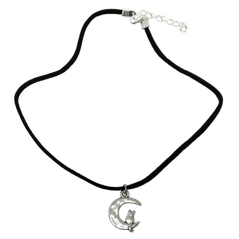 Cat on the Moon Choker Necklace - product images  of