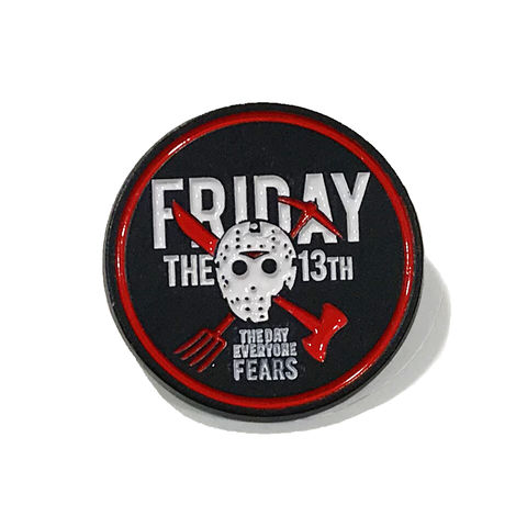 Friday,the,13th,Enamel,Pin,friday the thirteenth, enamel pin, friday the 13th, jason voorhees, horror, metal pin, lapel pin