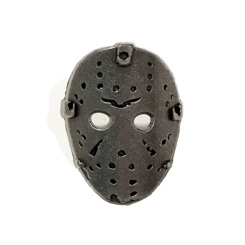 Jason,Voorhees,Mask,Pewter,Pin,friday the thirteenth, pewter pin, friday the 13th, jason voorhees, hockey mask, face, horror, metal pin, lapel pin
