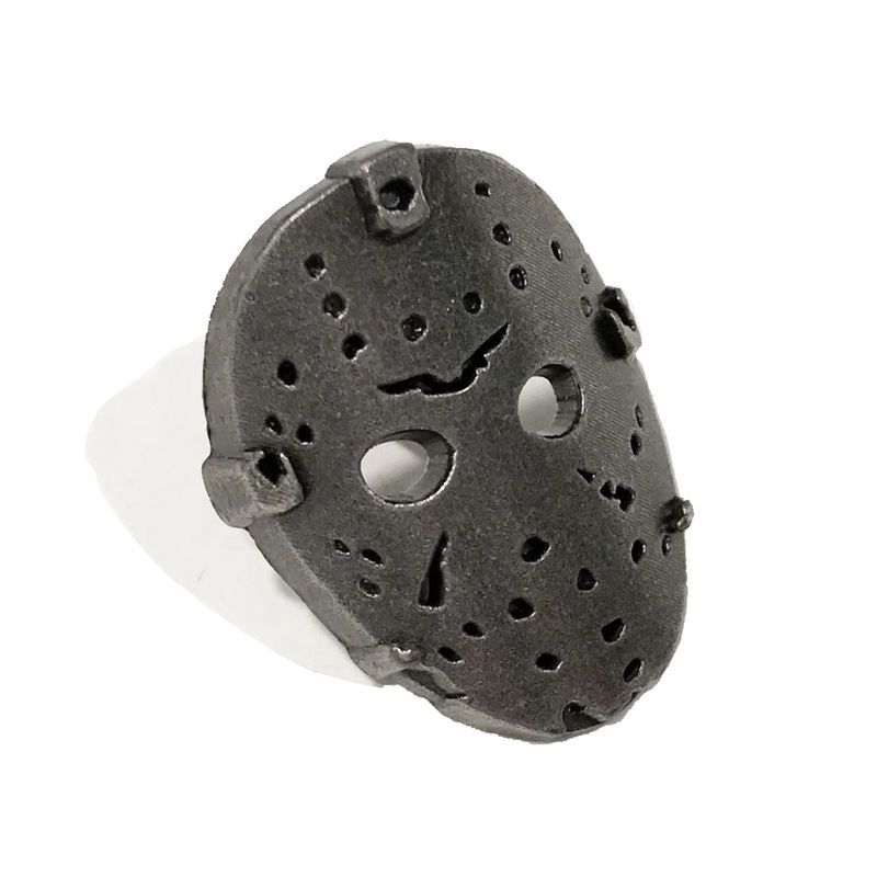 Jason Voorhees Mask Pewter Pin - product images  of