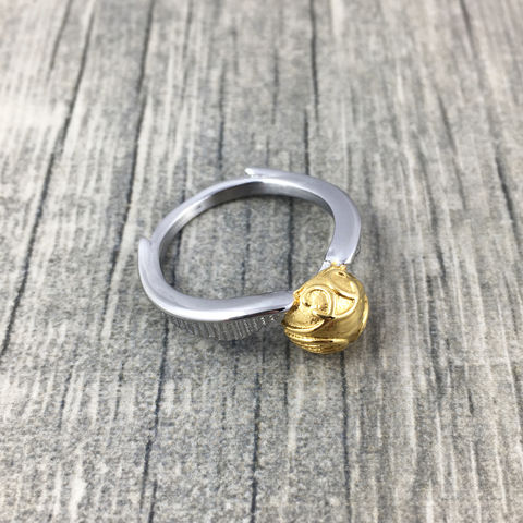 Harry,Potter,Golden,Snitch,Ring,harry potter, golden snitch, ring, stainless steel, finger ring, quidditch, flying ball, gold ball with wings, winged ball