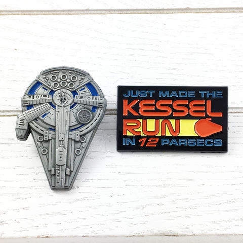 Star,Wars,|,Kessel,Run,Pin,Set,star wars, han solo, solo a star wars story, kessel run, millennium falcon, official, classic, enamel pin, metal pin, colour