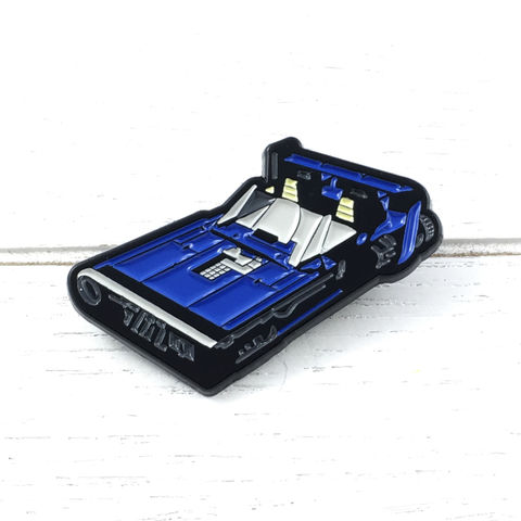 Star,Wars,|,Corellian,M-68,Landspeeder,Enamel,Pin,solo a star wars story, Corellian M-68 Landspeeder, han solo, blue car, cruiser, enamel pin, star wars collector, colour, metal