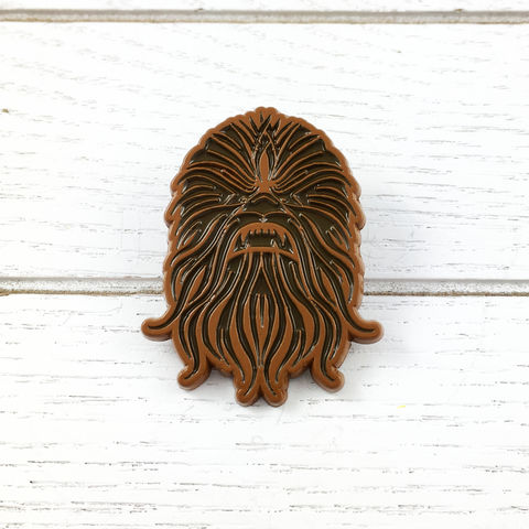 Star,Wars,|,Chewbacca,Enamel,Pin,star wars, wookie, chewbacca, chewey, chewie, enamel pin, badge, lapel pin, colour, metal, geeky