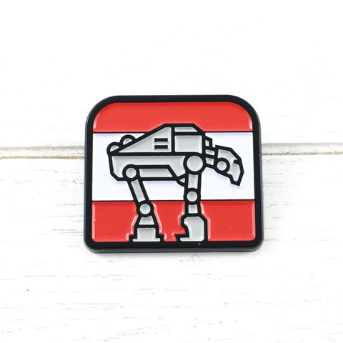 Star,Wars,|,AT-AT,Chibi,Enamel,Pin,star wars, AT-AT, atat, walker, enamel pin, badge, lapel pin, colour, metal, geeky, chibi, cartoon, cute, walking machine