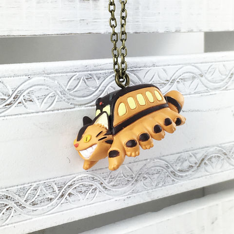 My,Neighbor,Totoro,|,Catbus,3D,Necklace,catbus, nekobus, necklace, pendant, 3D, plastic, long, chain, my neighbor totoro, neighbour totoro, cat bus