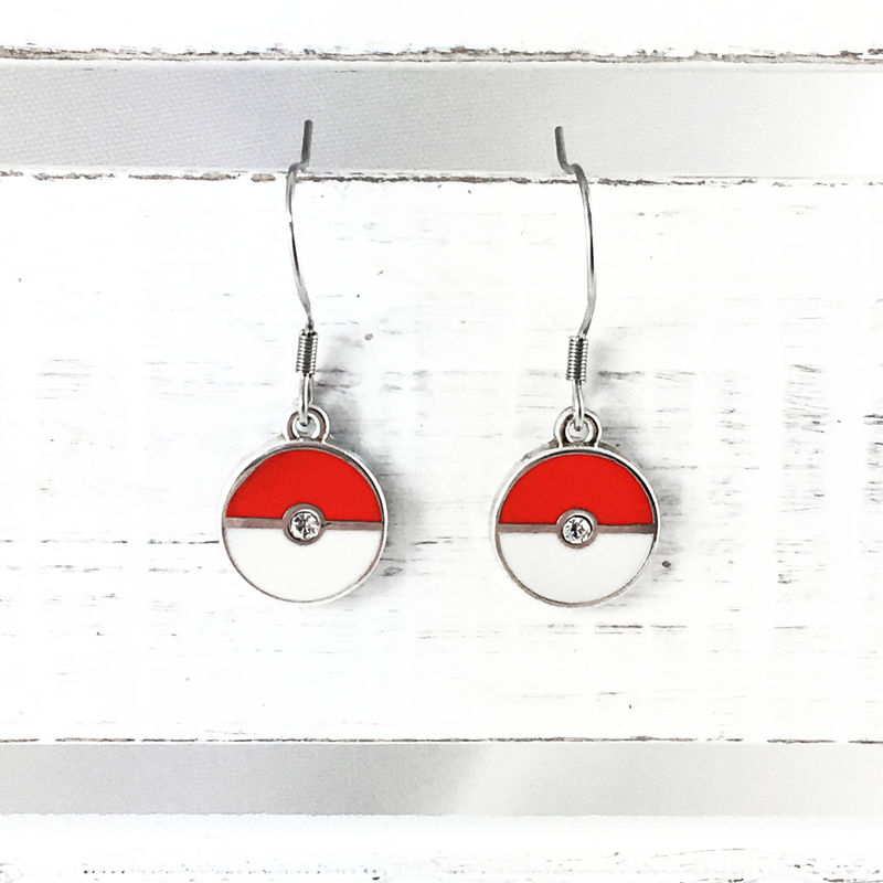 Pokémon | Pokéball Dangle Earrings - product images  of