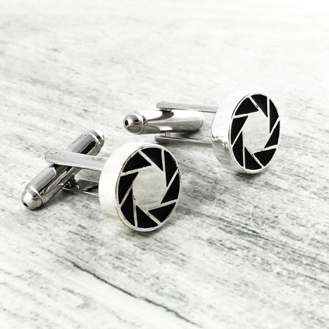 Portal,|,Aperture,Laboratories,Cuff,Links, portal ii, aperture science, aperture laboratories, cuff links, cufflinks, camera aperture, logo, silver, mens, geeky wedding